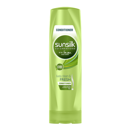 Sunsilk Lively Clean and Fresh Conditioner 320ml front of pack image